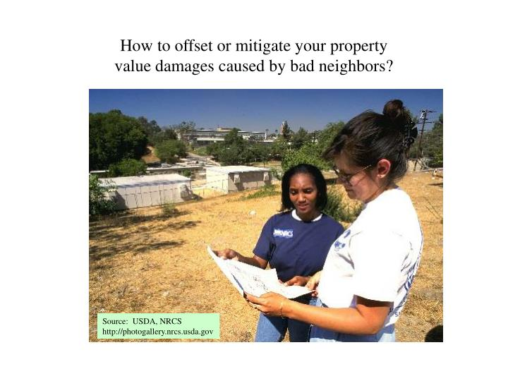 How to offset or mitigate your property