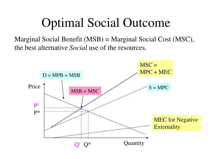 Optimal Social Outcome