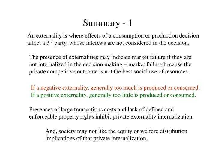Summary - 1