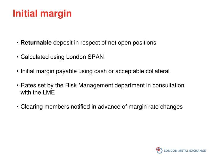 Initial margin