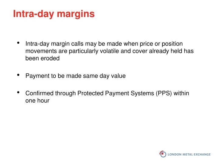 Intra-day margins