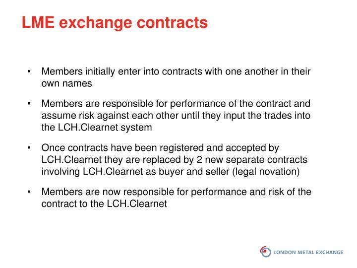 LME exchange contracts