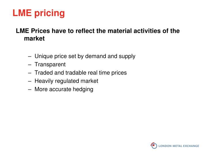 LME pricing