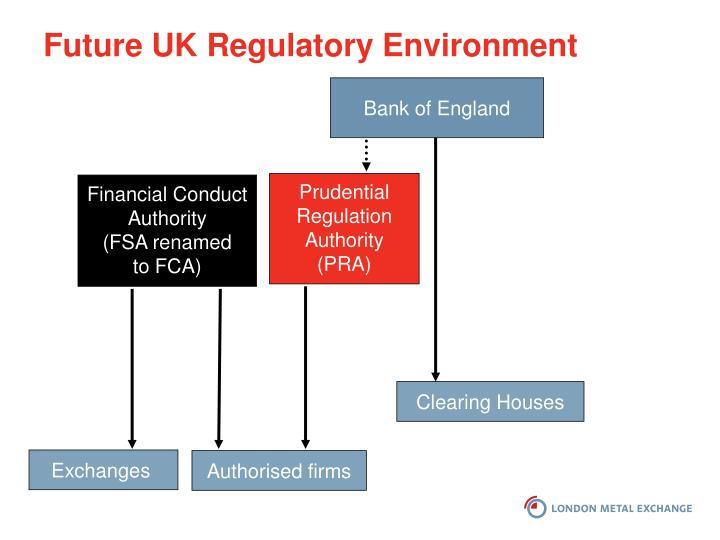 Future UK Regulatory Environment
