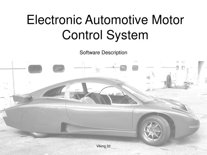 electronic automotive motor control system n.