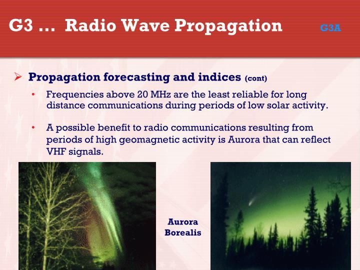 G3 …  Radio Wave Propagation