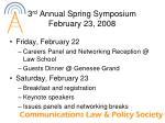 3 rd annual spring symposium february 23 20081