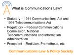 what is communications law