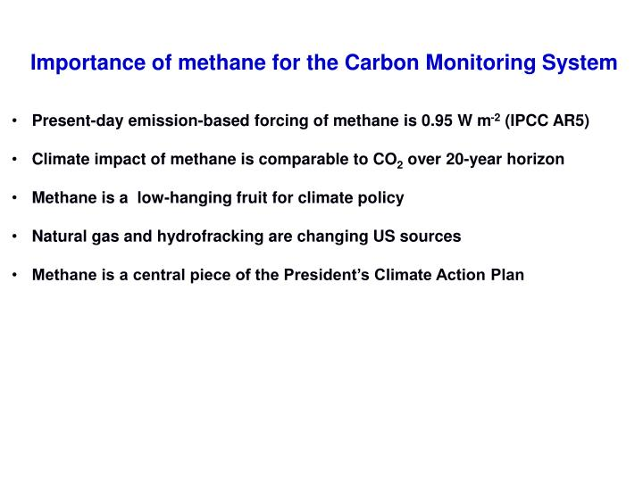 Importance of methane for the carbon monitoring system