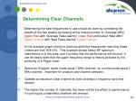 determining clear channels