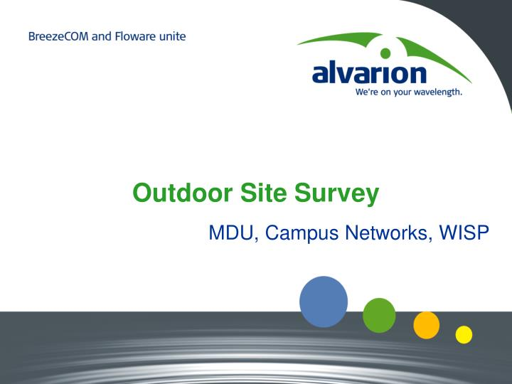 outdoor site survey n.