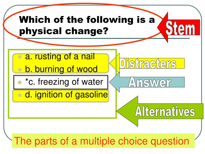 Which of the following is a physical change