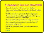 a language in common qca 2000