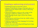 creating a welcoming environment