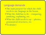 language demands