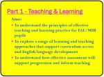 part 1 teaching learning