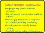 support strategies sentence level