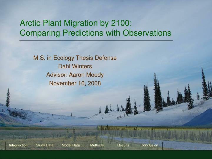 Arctic plant migration by 2100 comparing predictions with observations