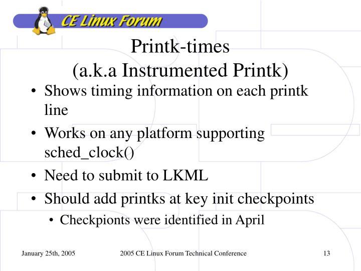 Printk-times