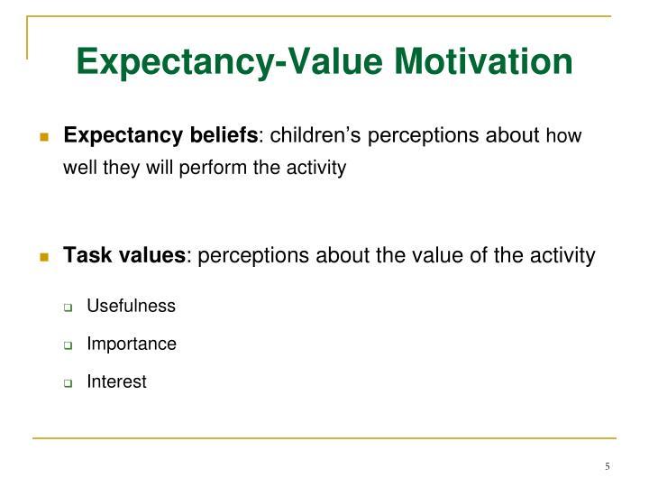 Expectancy-Value Motivation