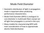 mode field diameter
