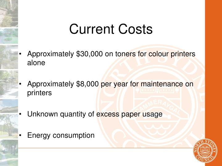Current Costs