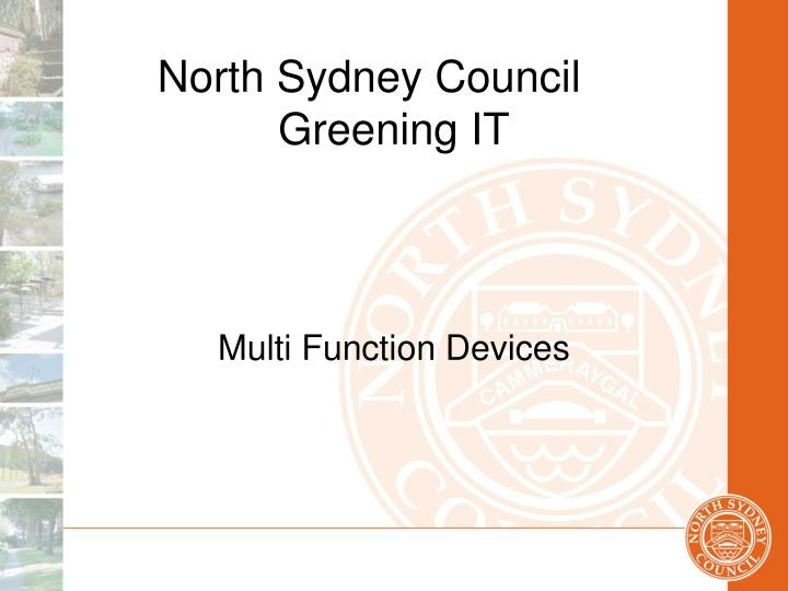 North sydney council greening it