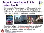 tasks to be achieved in this project cont1