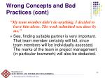 wrong concepts and bad practices cont1