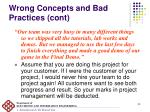 wrong concepts and bad practices cont2
