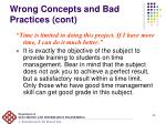 wrong concepts and bad practices cont3