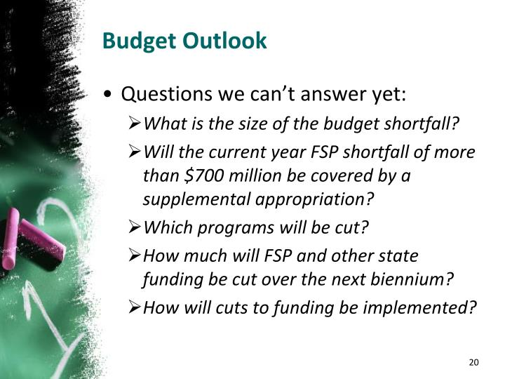 Budget Outlook