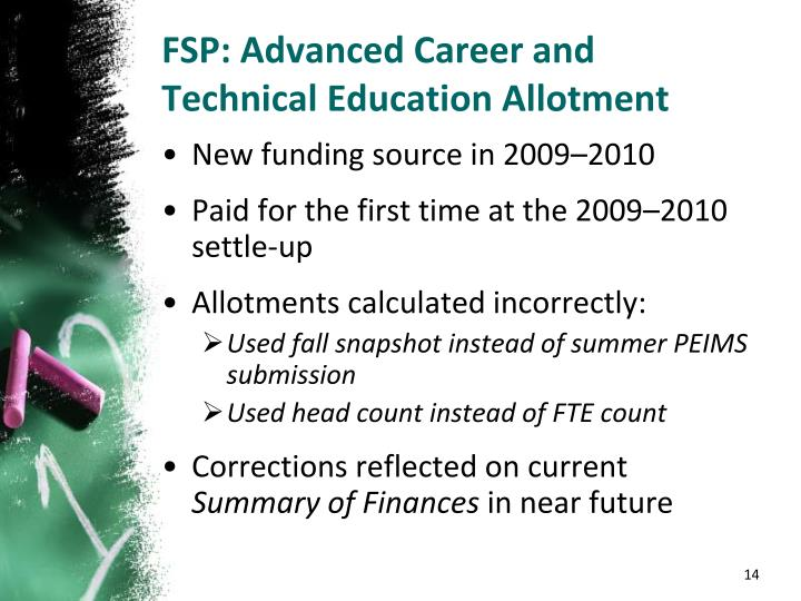 FSP: Advanced Career and Technical Education Allotment
