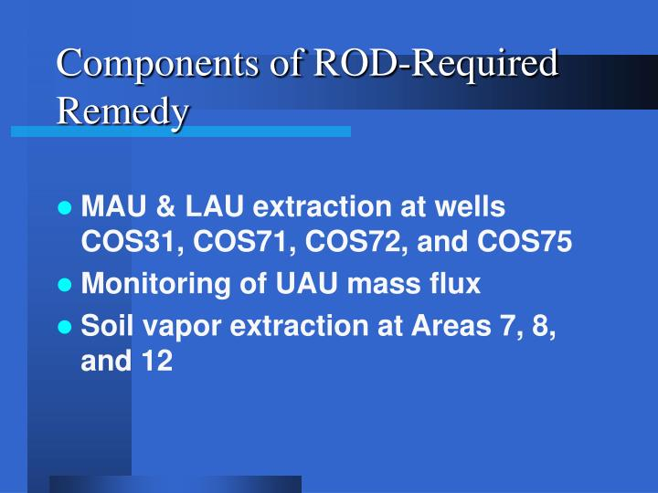 Components of ROD-Required Remedy