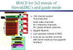 irace for 2x2 mosaic of hawaii2rg s and guide mode