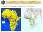 ethnicities and language groups
