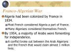 franco algerian war
