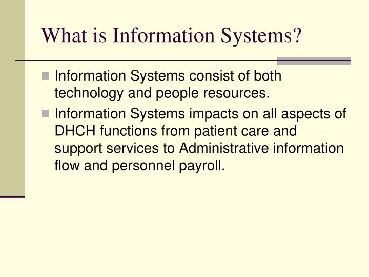 What is information systems
