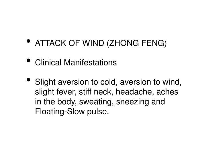ATTACK OF WIND (ZHONG FENG)