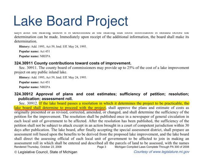 Lake Board Project
