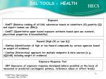 dsl tools health