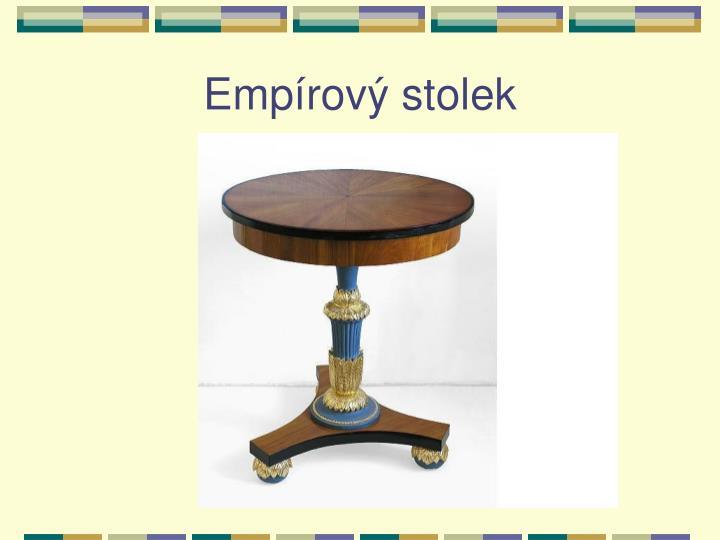 Empírový stolek