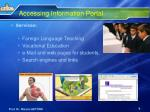 accessing information portal2
