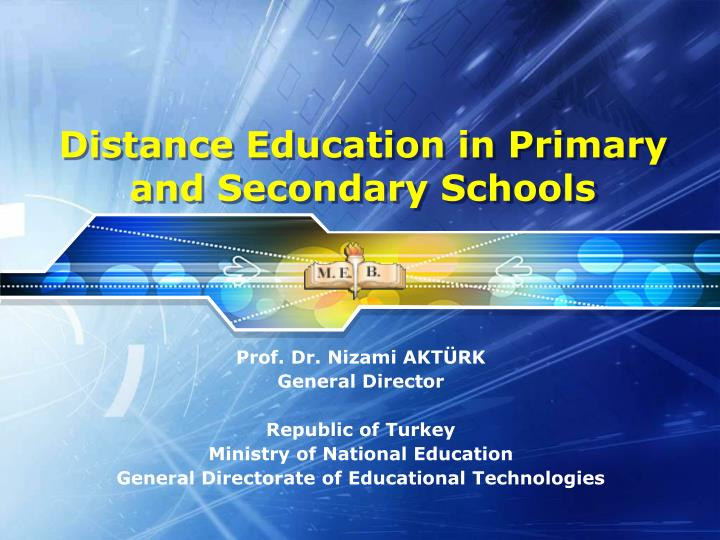 distance education in primary and secondary schools