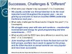 successes challenges different