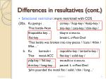 differences in resultatives cont