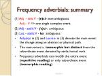 frequency adverbials summary