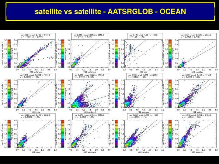 satellite vs satellite - AATSRGLOB - OCEAN