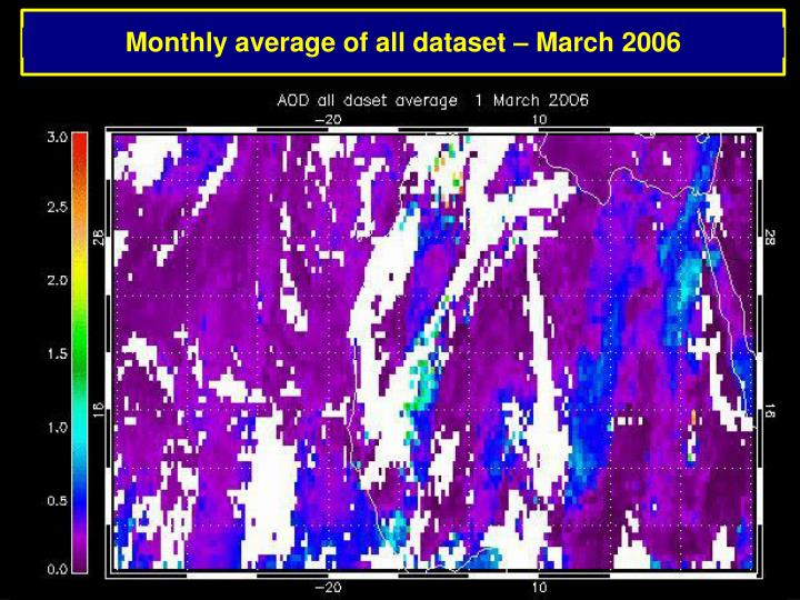 Monthly average of all dataset – March 2006