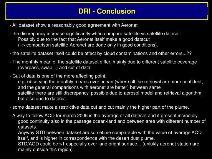 DRI - Conclusion